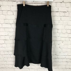 Black Banana Republic Size 12 Tier Skirt